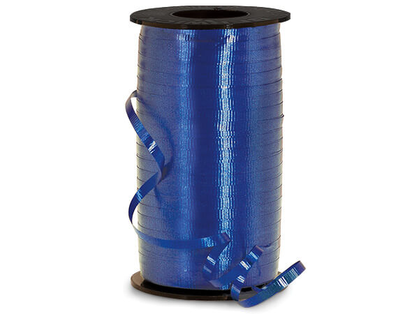 "Navy Blue Curling Ribbon, 3/16""x500 yards"