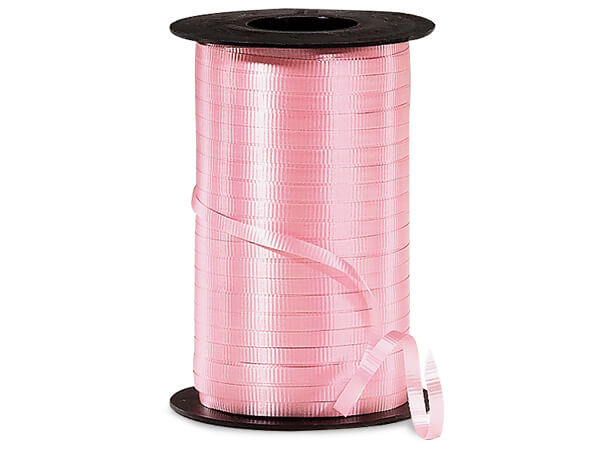"Pink Curling Ribbon 3/16""x500 yds"