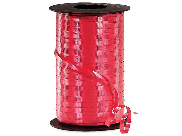 "Red Curling Ribbon, 3/16""x500 yards"
