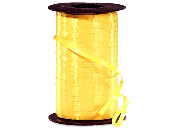 "Sunshine Yellow Curling Ribbon, 3/16""x500 yards"