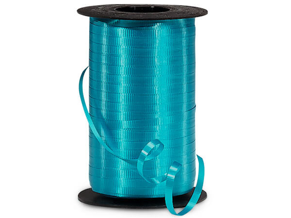 "Turquoise Blue Curling Ribbon, 3/16""x500 yards"