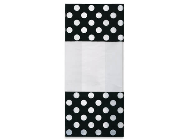 Black and White Dots Cello Treat Bags
