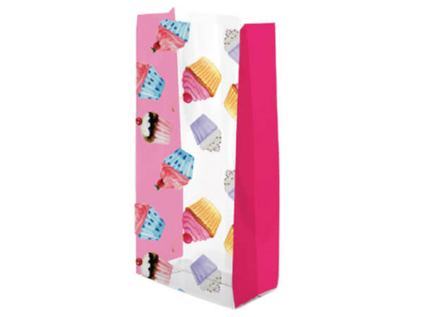 """Cupcake Party Cello Treat Bags, 5x3x11"""", 100 Pack"""