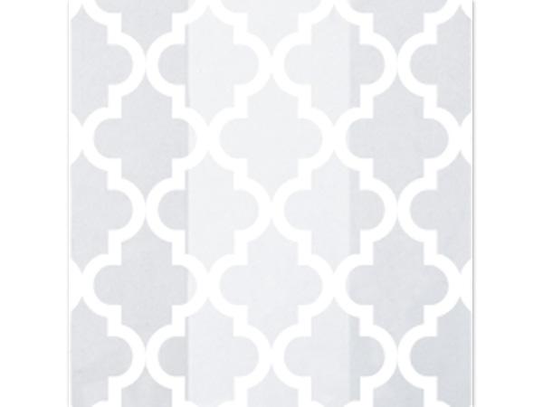"""Geo Tiles White Cello Bags, 5x3x11"""", 100 Pack"""