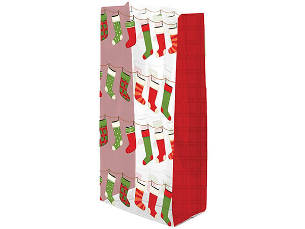"Hanging Stockings Cello Bags, 5x3x11"", 100 Pack"