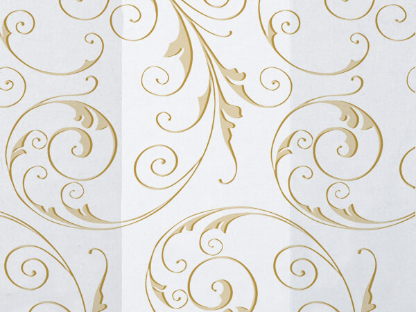 "Jewel Swirl Frosted Gold Cello Bags, 5x3x11"", 100 Pack"