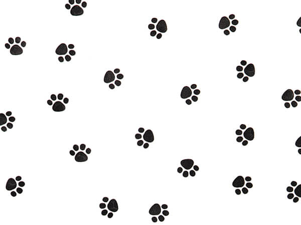 "Paw Print Cello Bags, 5x3x11"", 100 Pack"