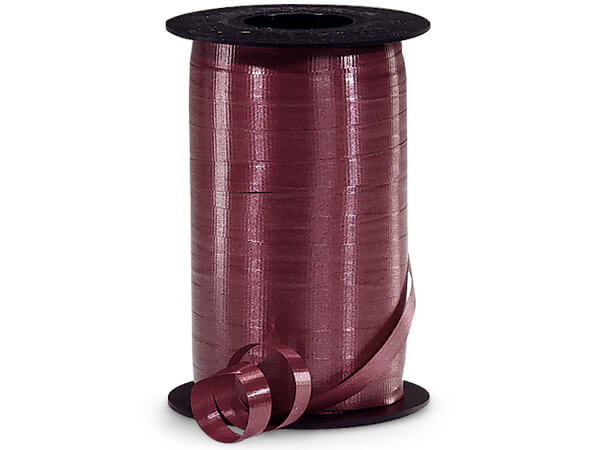 "Burgundy Curling Ribbon, 3/8""x250 yards"