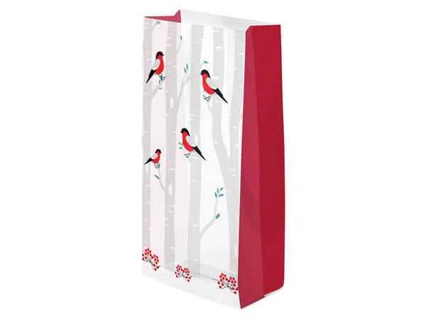 "Winter Birds Cello Bags, 5x3x11"", 100 Pack"