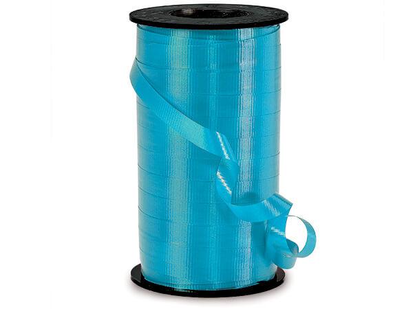 "Caribbean Blue Curling Ribbon 3/8""x250 yds"