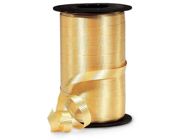 "Gold Curling Ribbon, 3/8""x250 yards"