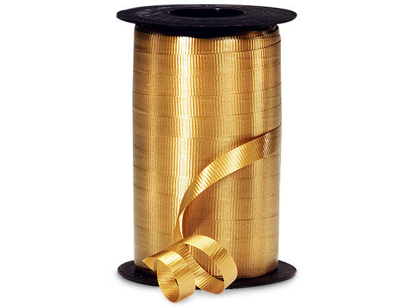 "Holiday Gold Curling Ribbon, 3/8""x250 yards"