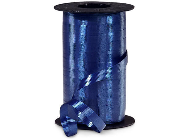 "Navy Curling Ribbon 3/8""x250 yds"