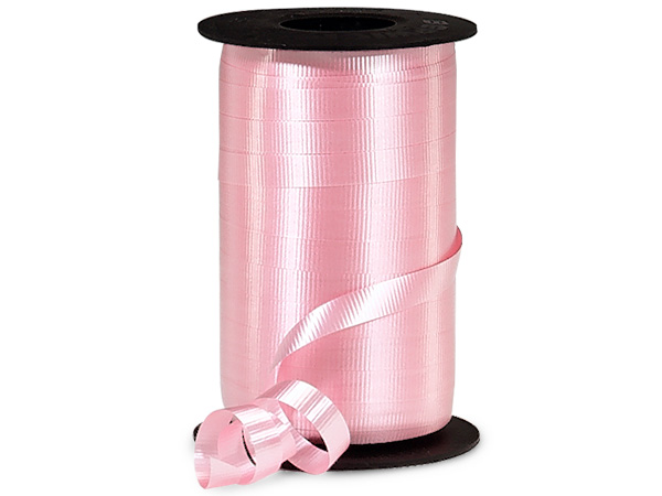"Pink Curling Ribbon, 3/8""x250 yards"