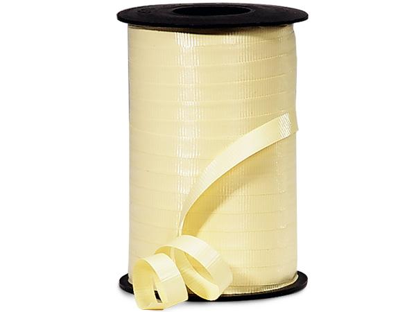 "Pastel Yellow Curling Ribbon, 3/8""x250 yards"