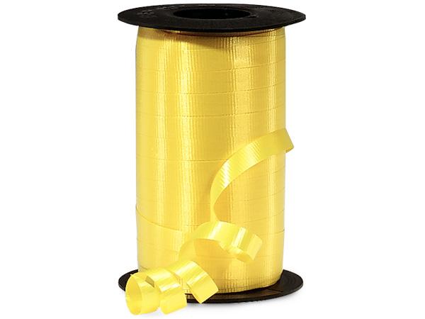 "Sunshine Yellow Curling Ribbon, 3/8""x250 yards"