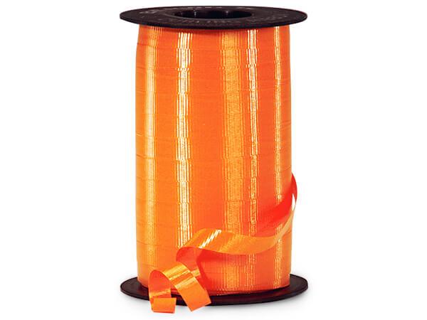 "Tropical Orange Curling Ribbon 3/8""x250 yds"