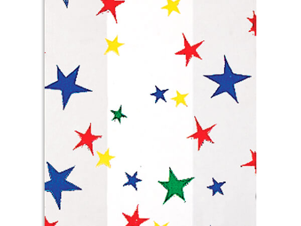 "Primary Stars Cello Bags, 6x3.25x13.5"", 100 Pack"