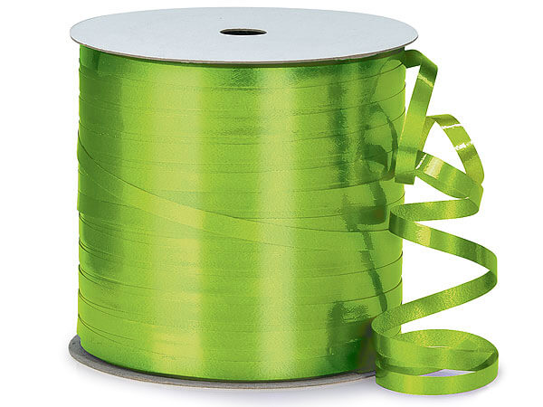 "Citrus Green High Gloss Curling Ribbon, 3/16""x250 yards"