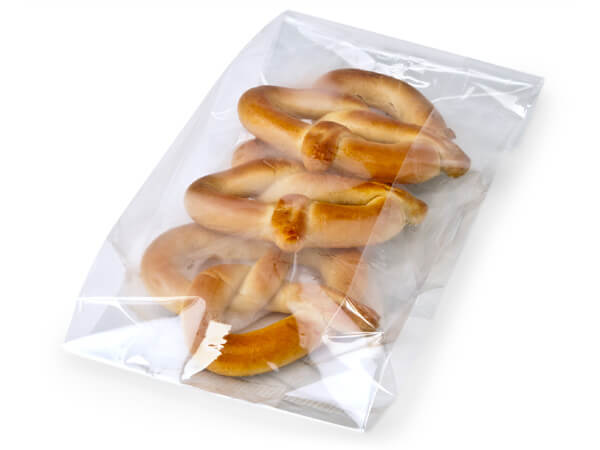 "Clear Cello Bags with Gusset, 7x4x18"", 100 Pack"
