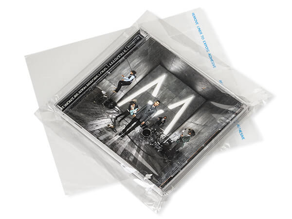 """Clear Tape Resealable Cello Bags, 6.5x6.5"""", 100 Pack"""