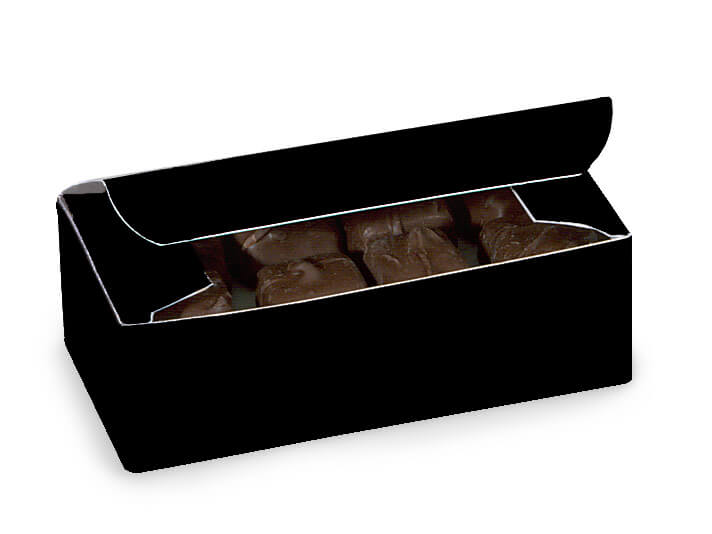 "Black 1/2 lb Candy Boxes, 5.5x2.75x1.75"", 10 Pack"