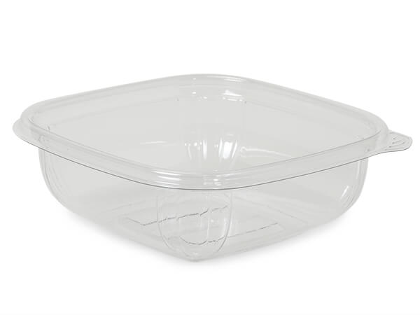 Small 8oz Clear Bowl Base, Recycled Clear PET, 50 Pack