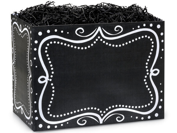 Large Chalkboard Borders Basket Boxes 10-1/4x6x7-1/2""