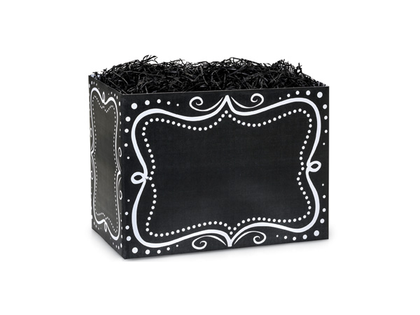 Small Chalkboard Borders Basket Boxes 6-3/4x4x5""