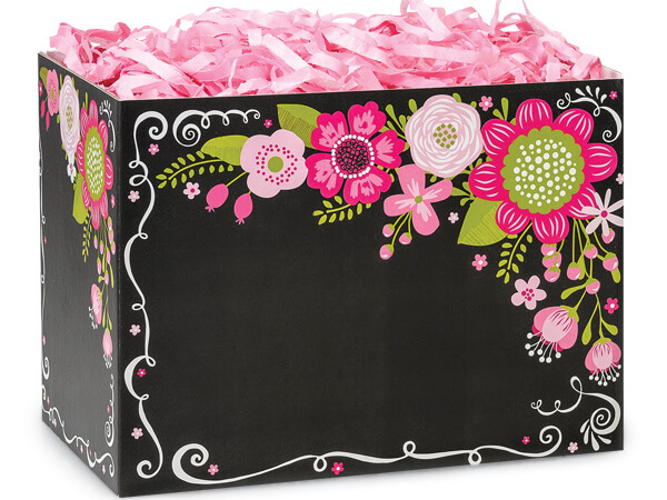 Chalkboard Flowers Basket Boxes