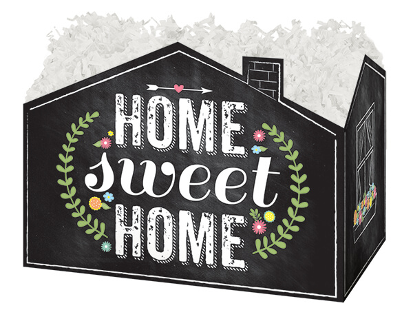 Chalkboard Home Sweet Home Basket Boxes