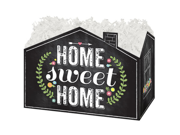 """Small Chalkboard Home Sweet Home Basket Boxes 6-3/4 x 4 x 5"""""""