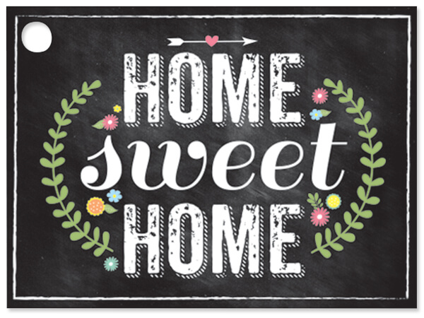 Chalkboard Home Sweet Home Cards 3-3/4x2-3/4""