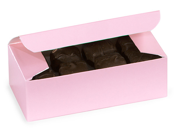 "Pink 1/2 lb Candy Boxes, 5.5x2.75x1.75"", 10 Pack"