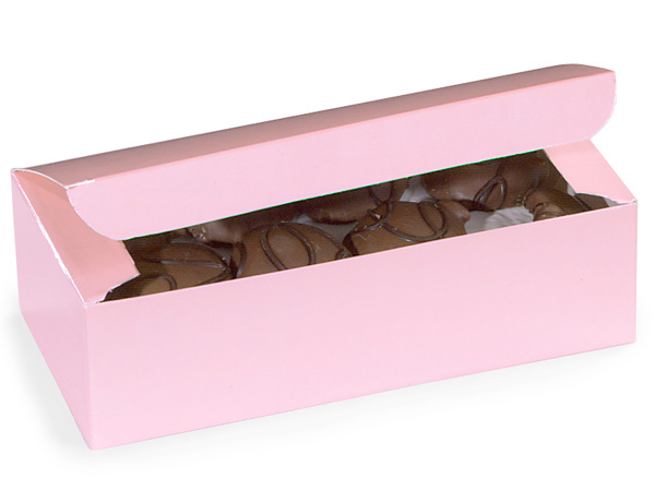 "Pink 1 lb Candy Boxes, 7x3.5x2"", 10 Pack"