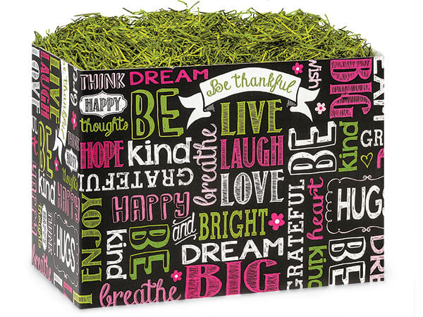*Large Chalkboard Sentiments Basket Boxes 10-1/4x6x7-1/2""