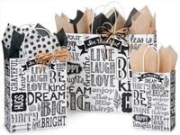 Nashville Wraps Chalkboard Sentiments Paper ShoppingBags