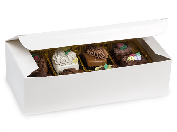 "White 1 lb. Candy Boxes, 7x3.5x2"", 100 Pack"