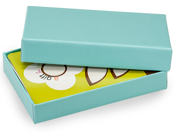 Aqua Jewel Gift Card Holder Box 3 7 16x2 3 16x9 16 Nashville Wraps