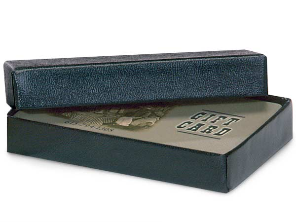 Black Embossed Gift Card Holder Box 3-7/16x2-3/16x9/16""
