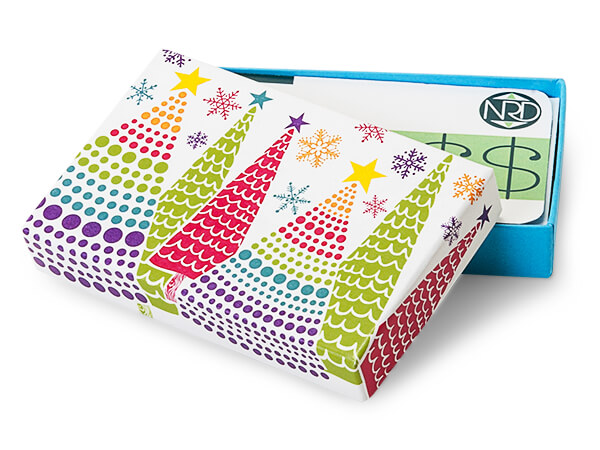 Bright Trees Gift Card Box