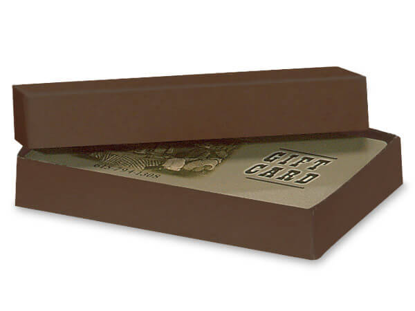 Chocolate Embossed Kraft Gift Card Holder Box 3-7/16x2-3/16x9/16""