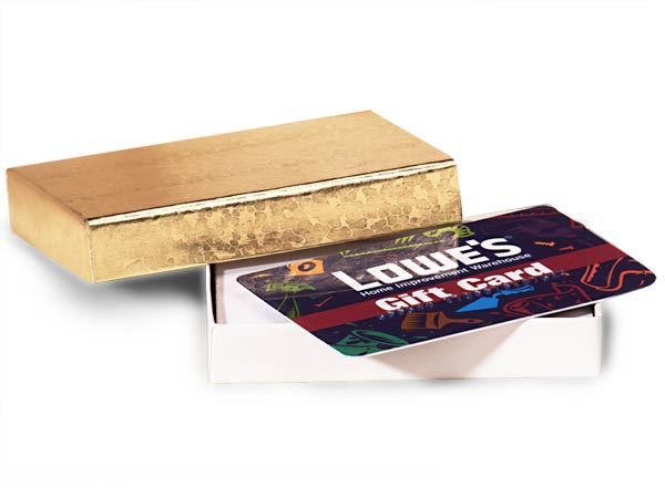 Gold Embossed Foil Gift Card Holder Box 3 7 16x2 3 16x9 16