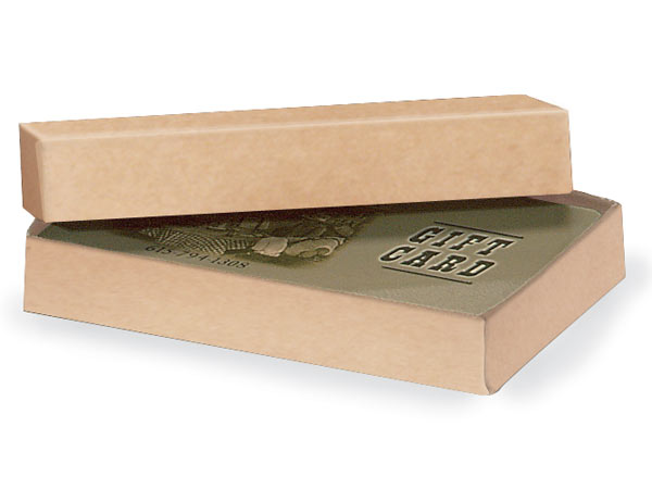 Natural Kraft Gift Card Holder Box 3-7/16x2-3/16x9/16""
