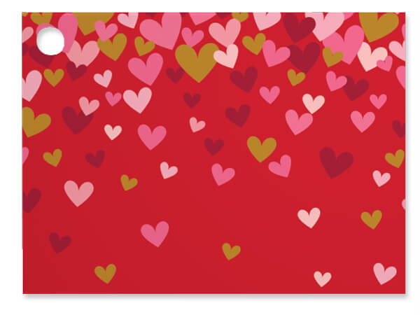 Confetti Hearts Theme Gift Cards 3-3/4x2-3/4""