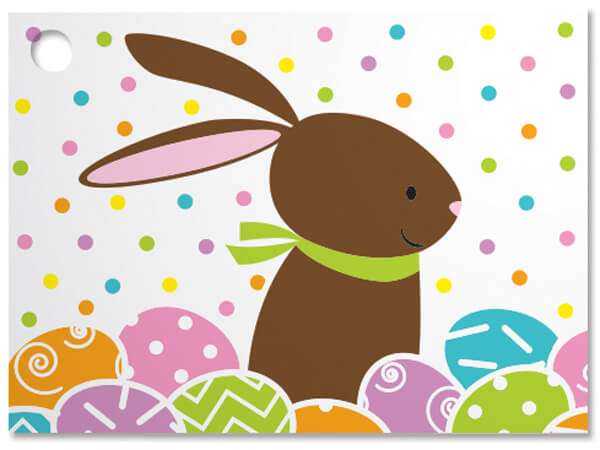 Chocolate Bunny Theme Gift Cards 3-3/4x2-3/4""