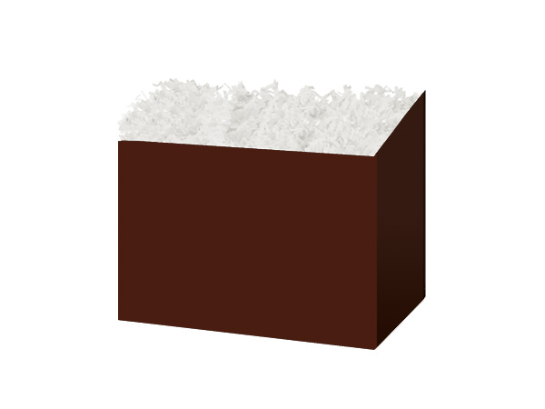 """*Small Solid Chocolate Basket Boxes 6-3/4x4x5"""""""