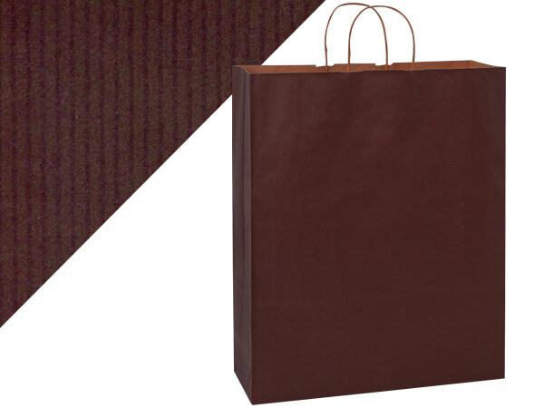 "Queen Chocolate Brown Shadow Stripe 200 Pk 16x6x19-1/4"""