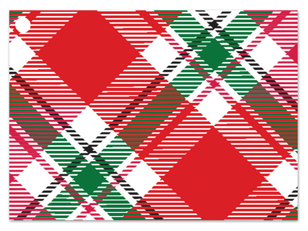 Christmas Plaid Theme Gift Cards, 3.75x2.75, 6 Pack