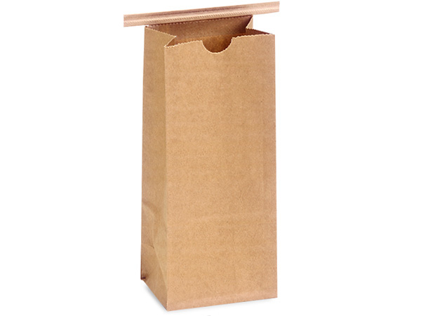 1000 Paper Lined 1 lb Coffee Bags 4-1/4x2-1/2x10-1/2""